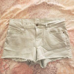 Old Navy boyfriend color denim shorts
